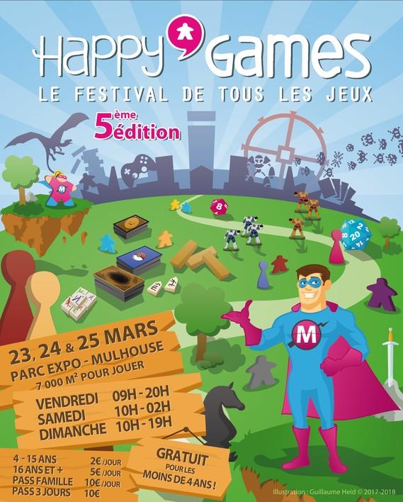 5ème Edition du festival Happy'Games de Mulhouse