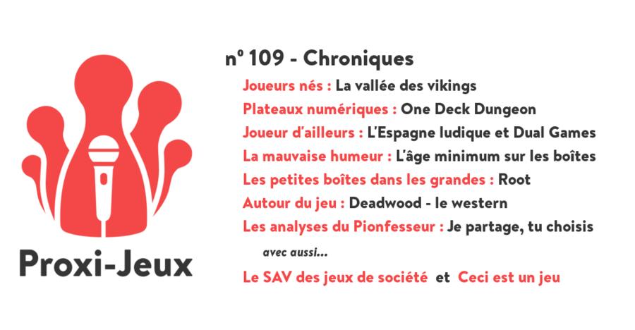 Proxi-Jeux N°109 - Chroniques