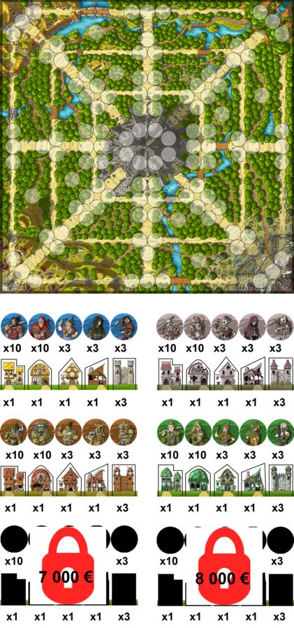 Batailles Pour Un Donjon : Univers, illustrations, contenu du jeu