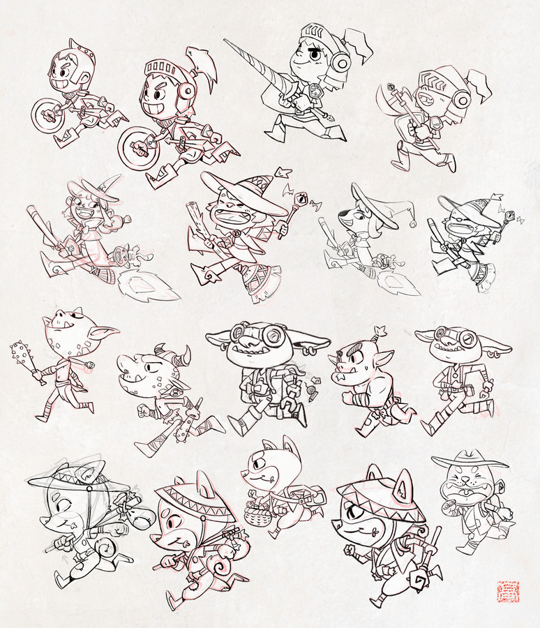 Recherches Character design Kingdom run