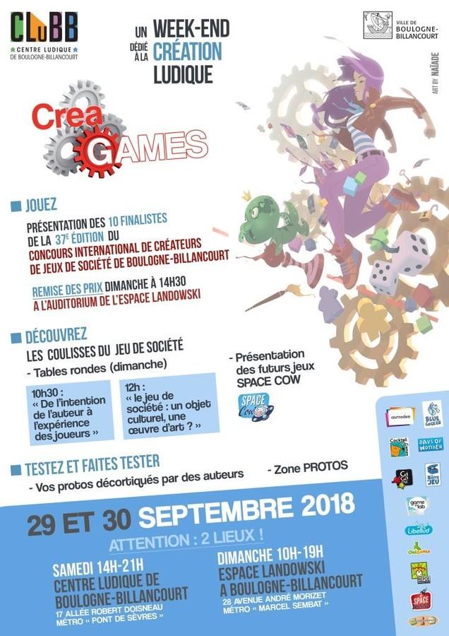 CreaGames et remise des prix 37e Concours de Boulogne-Billancourt