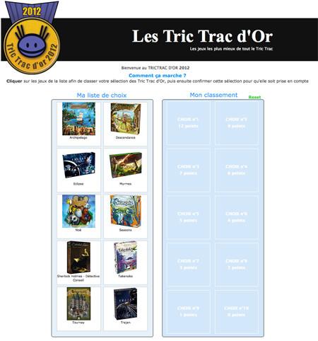 Voter pour les Tric Trac d'or 2012, c'est possible !
