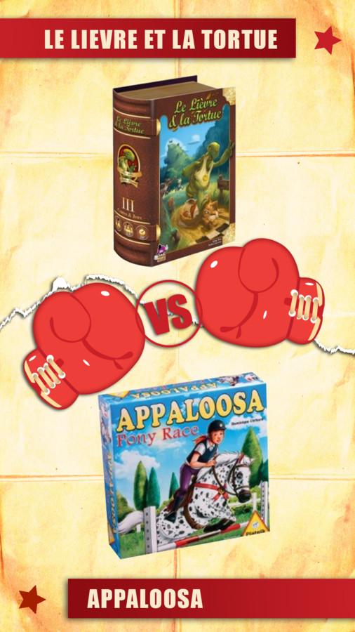versus : le lièvre et la tortue VS appaloosa