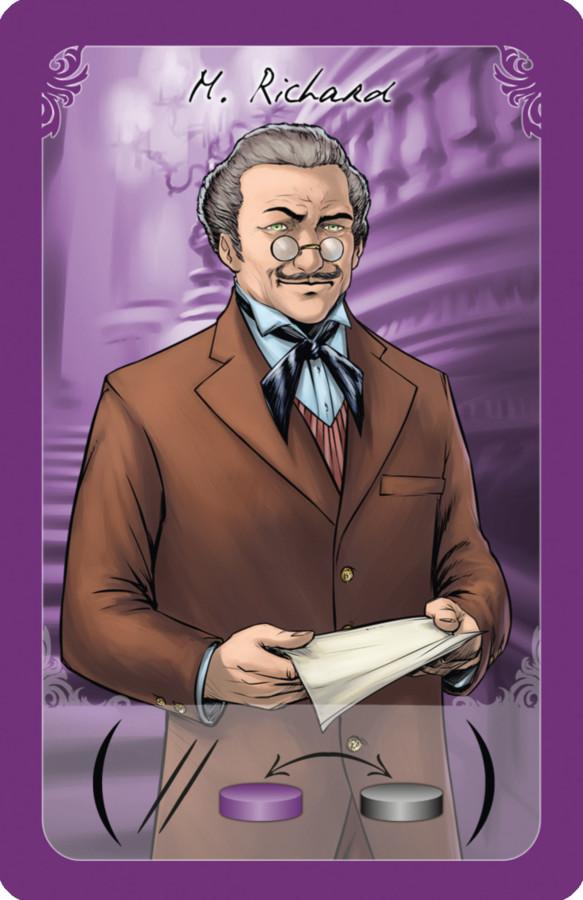 Une carte personnage de Le Fantôme de l'Opéra