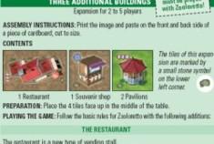 Zooloretto: Trois bâtiments supplémentaires