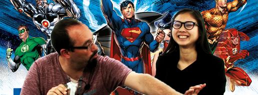 DC Comics Deckbuilding : la supergamme héroïque, de le papotache !
