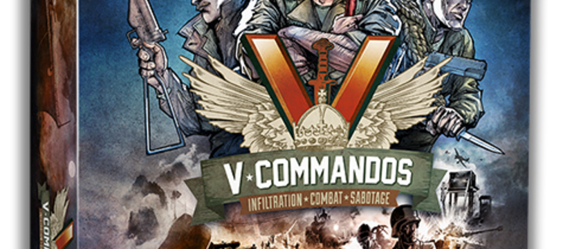 Triton Noir lance V-Commandos, son premier jeu  de plateau tactique