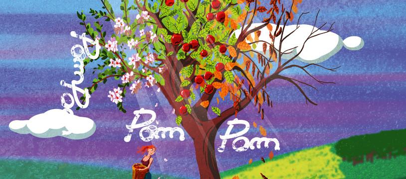 Les feuilles blanches de Pom-Pom