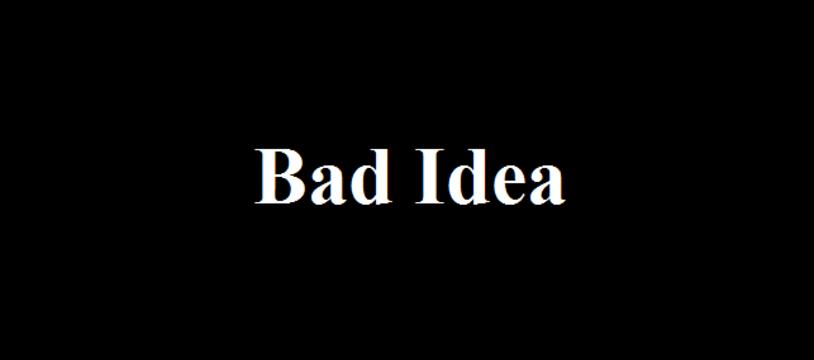 Le jeu gratuit du vendredi :  Bad Idea