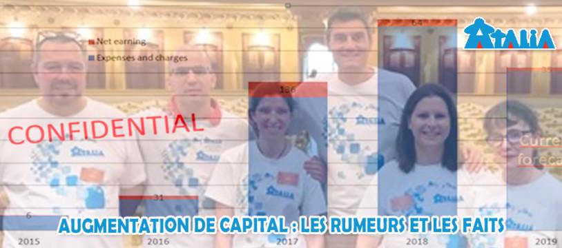 Atalia : augmentation de capital: rumeurs et faits