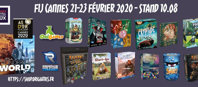 [FIJ Cannes 2020] Le programme Origames-Renegade-France