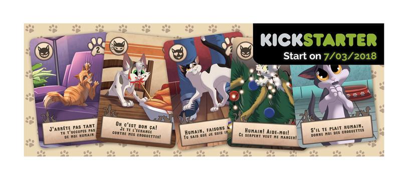 Notre premier jeu sur Kickstarter : Cat'astrophes