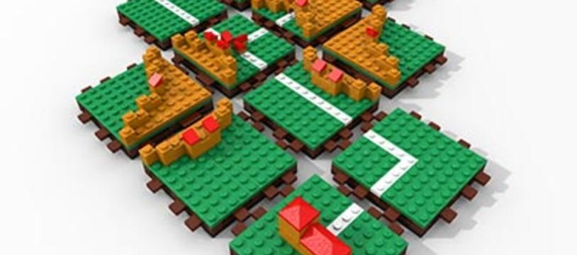 Carcassonne en Lego