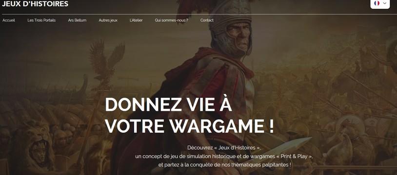 création du site de wargames Print & Play  www.jeuxdhistoires.com