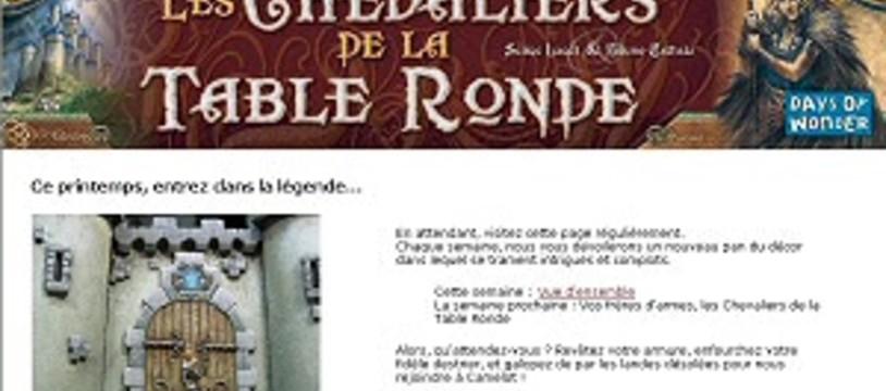 Chevaliers de la table ronde, le site web !