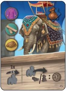 """Agra - Carte promotionnelle """"Ambabari Elephant"""""""
