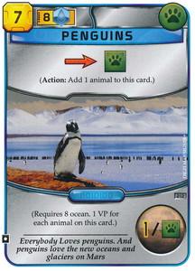 """Terraforming Mars - Carte promotionnelle """"Pingouins / Penguins"""""""