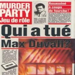 Qui a tué Max Duvall ?