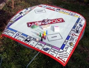 monopoly : tapis géant
