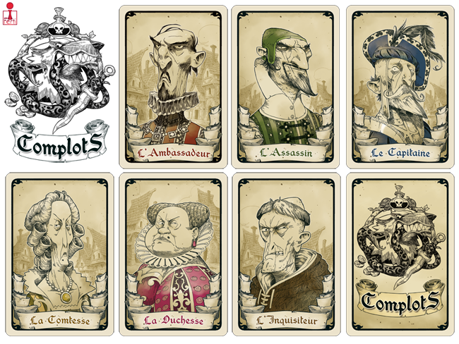 Complots : illustrations des cartes