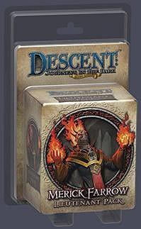 Descent : Voyages dans les Ténèbres ! - Pack Lieutenant Merick Farrow
